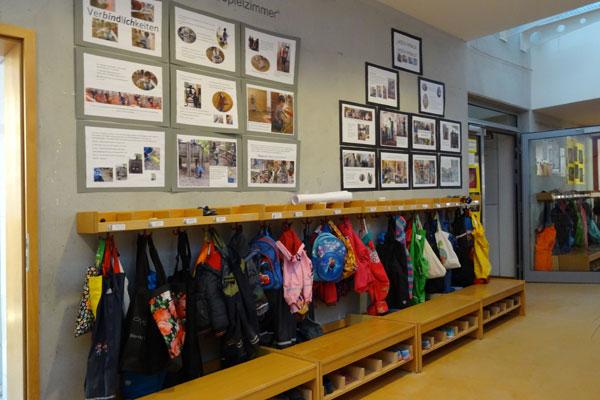 Kindertagesstätte Garderobe